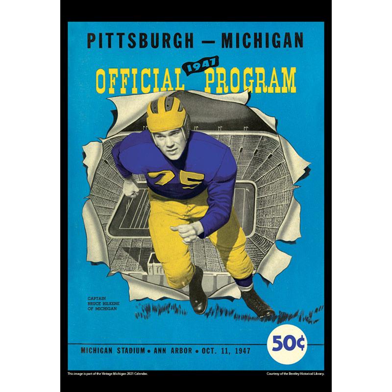 2021 Vintage Michigan Wolverines Football Calendar