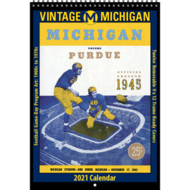 2021 Vintage Michigan Wolverines Football Calendar