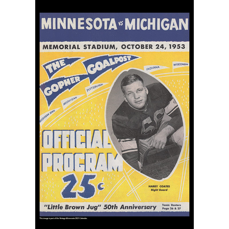 2021 Vintage Minnesota Golden Gophers Football Calendar