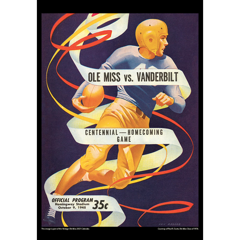 2021 Vintage Ole Miss Rebels Football Calendar
