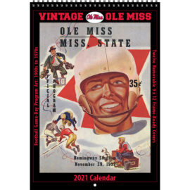 2021 Vintage Ole Miss Rebels Football Calendar