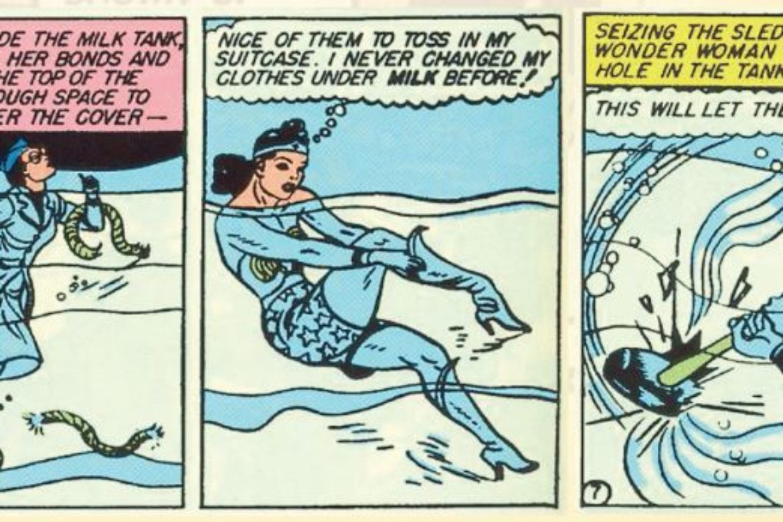 Got Milk?  Sneak Peek Story from our 2021 Vintage Wonder Woman Calendar…
