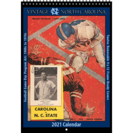 2021 Vintage North Carolina Tar Heels Football Calendar