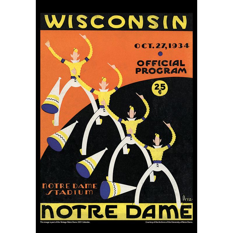 2021 Vintage Notre Dame Fighting Irish Football Calendar