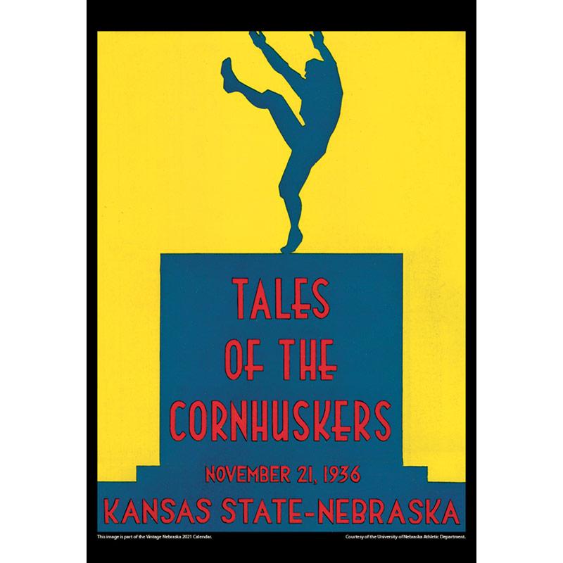 2021 Vintage Nebraska Cornhuskers Football Calendar