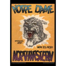 2021 Vintage Northwestern Wildcats Football Calendar