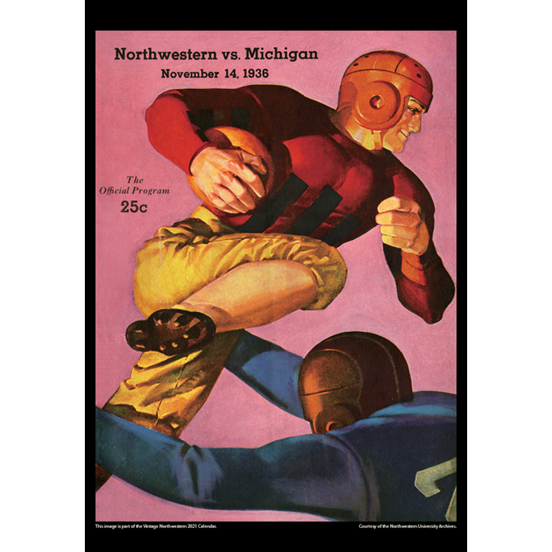2021 Vintage Northwestern Wildcats Football Calendar