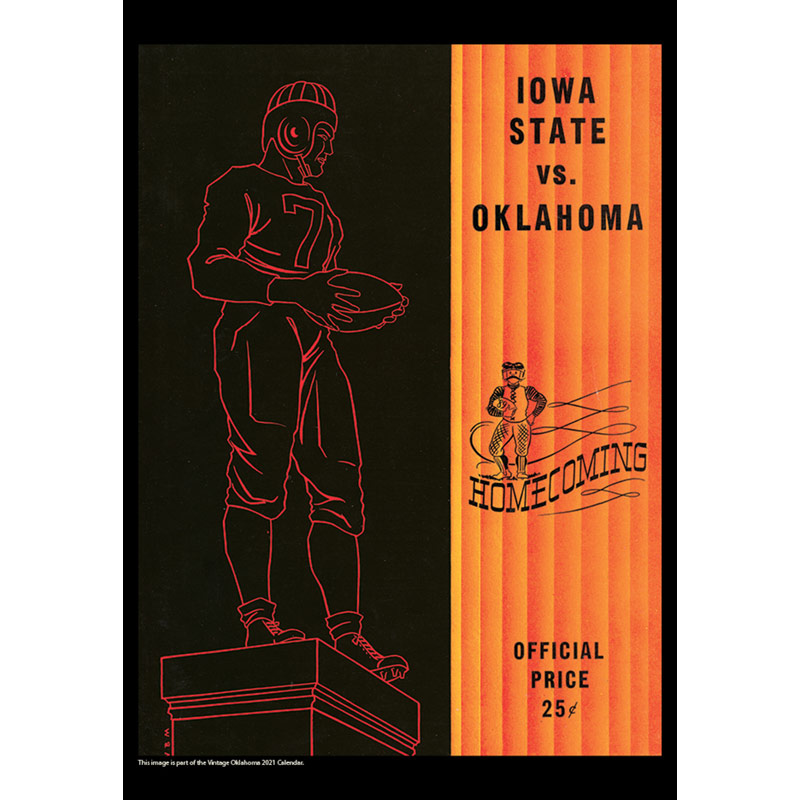 2021 Vintage Oklahoma Sooners Football Calendar