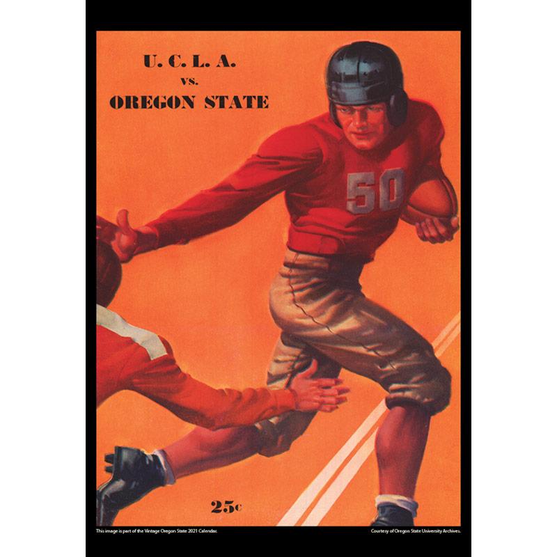 2021 Vintage Oregon State Beavers Football Calendar