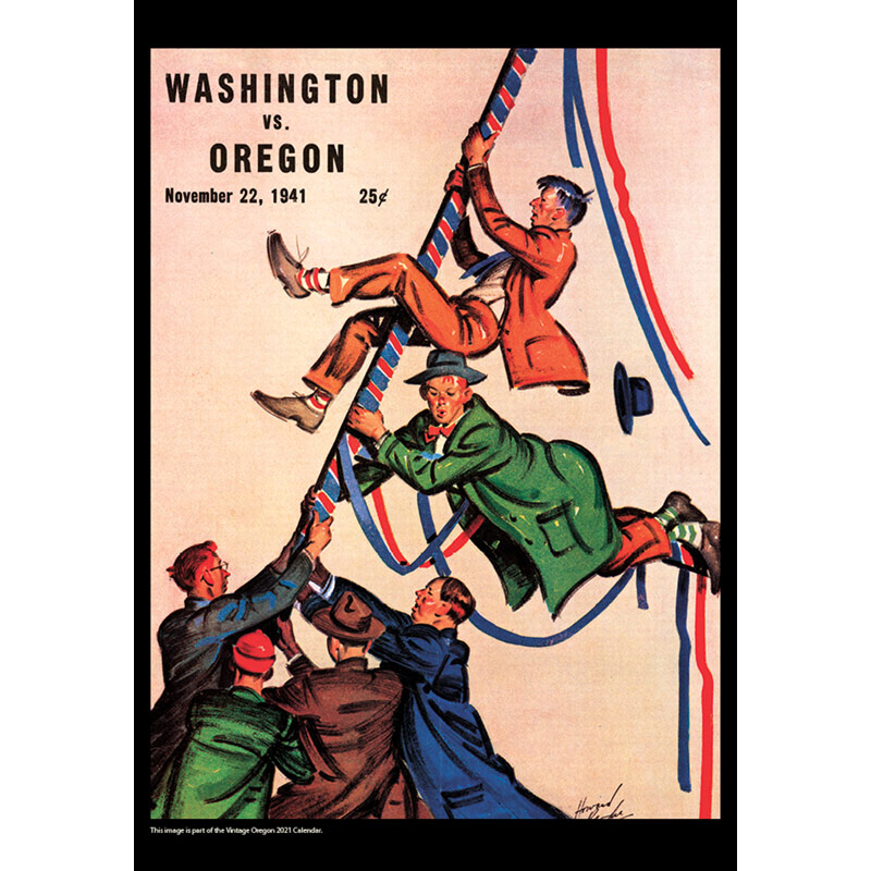 2021 Vintage Oregon Ducks Football Calendar