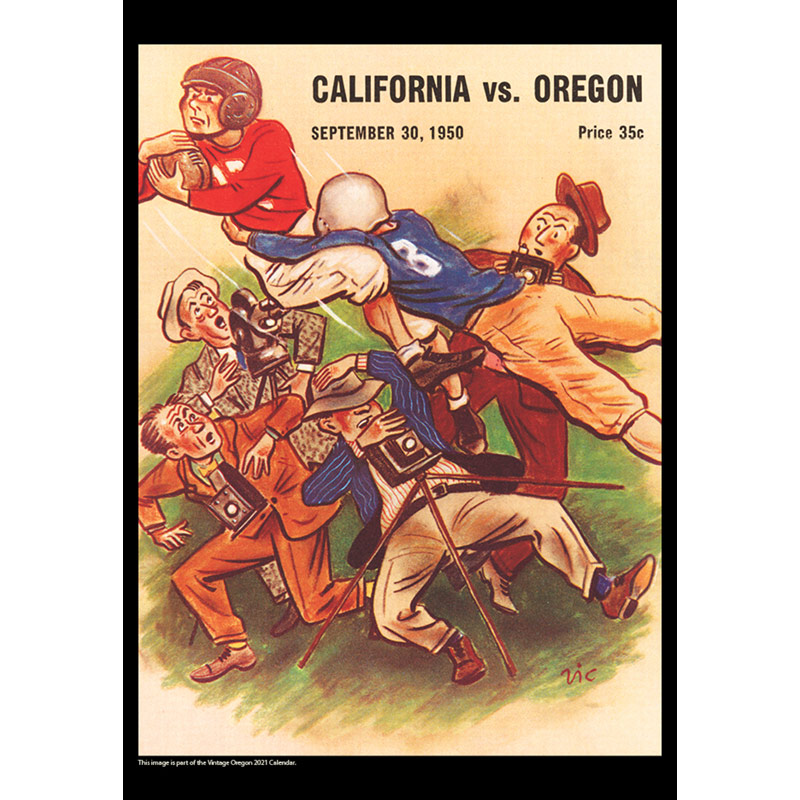 2021 Vintage Oregon Ducks Football Calendar