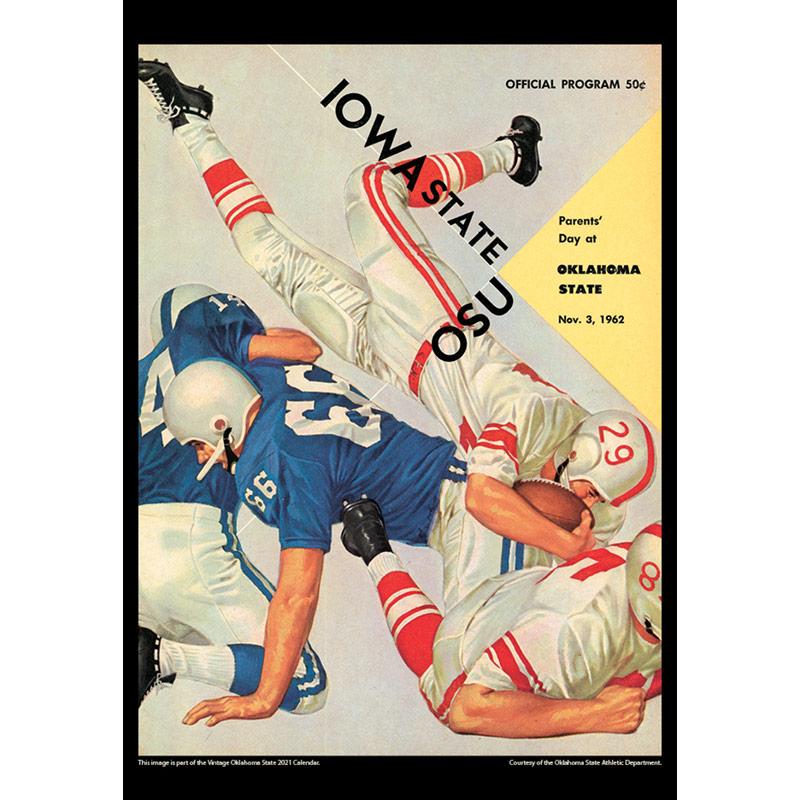 2021 Vintage Oklahoma State Cowboys Football Calendar