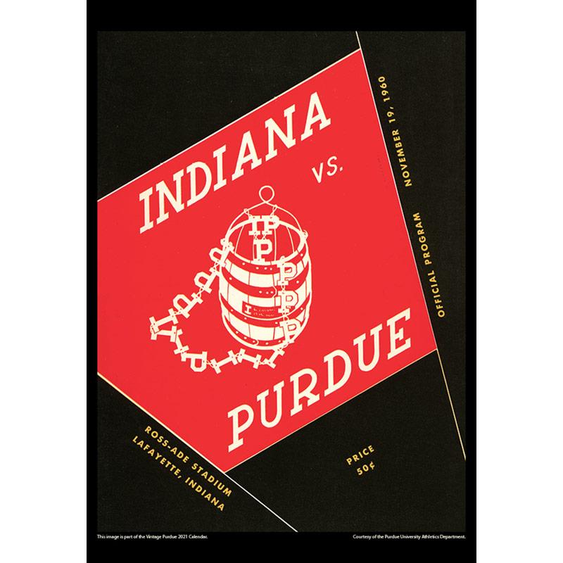2021 Vintage Purdue Boilermakers Football Calendar ...
