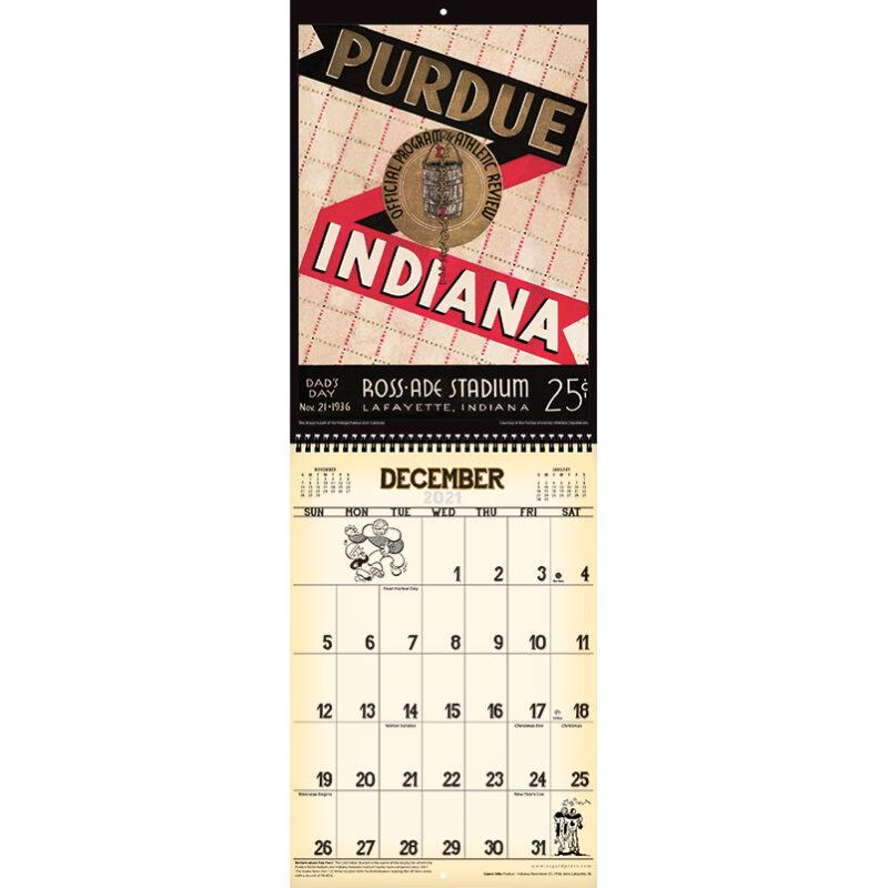 2021 Vintage Purdue Boilermakers Football Calendar