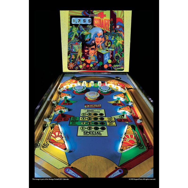 2021 Vintage Pinball Calendar
