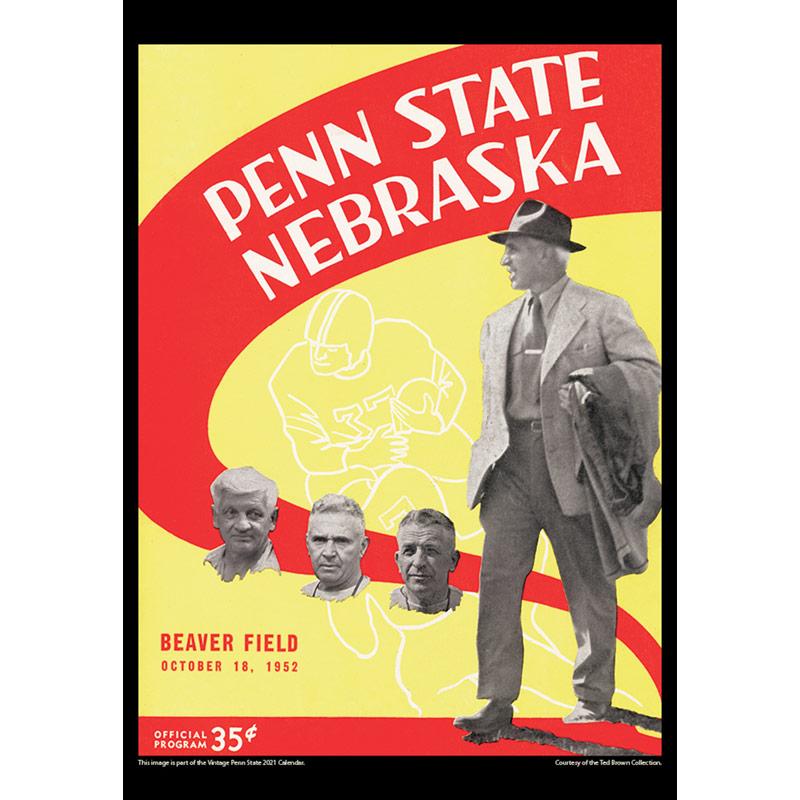 2021 Vintage Penn State Nittany Lions Football Calendar