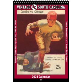 2021 Vintage South Carolina Gamecocks Football Calendar