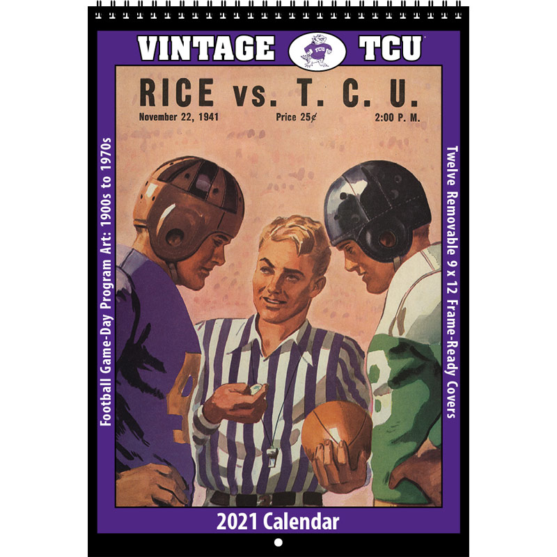 2021 Vintage TCU Horned Frogs Football Calendar