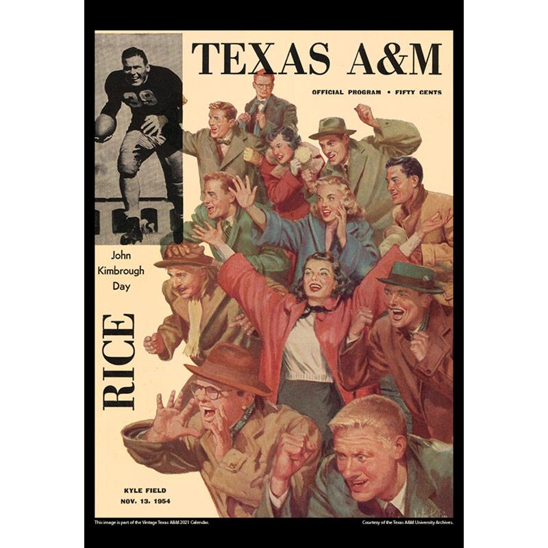2021 Vintage Texas A&M Aggies Football Calendar