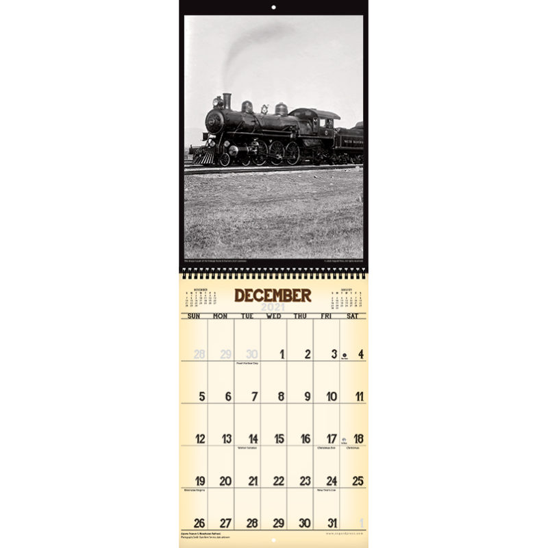 2021 Vintage Trains & Stations Calendar