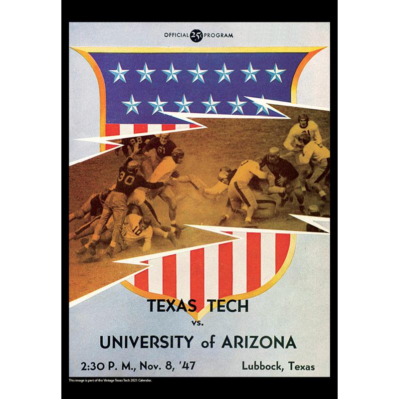 2021 Vintage Texas Tech Red Raiders Football Calendar