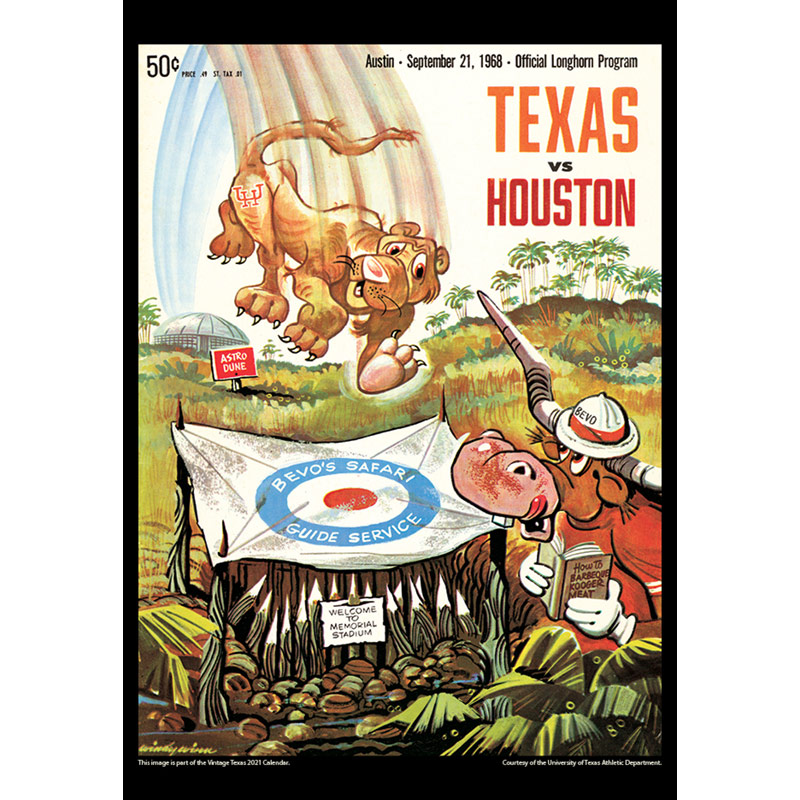 2021 Vintage Texas Longhorns Football Calendar