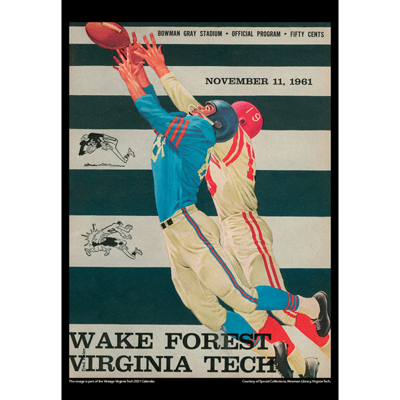2021 Vintage Virginia Tech Hokies Football Calendar