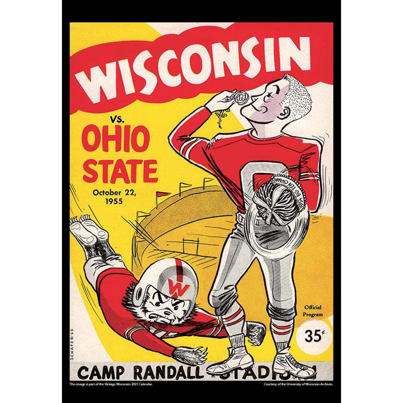 2021 Vintage Wisconsin Badgers Football Calendar