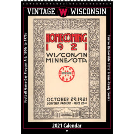 2021 Vintage Wisconsin Badgers Football Calendar