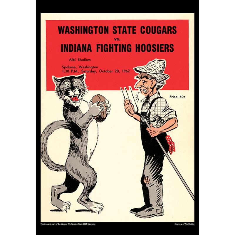 2021 Vintage Washington State Cougars Football Calendar