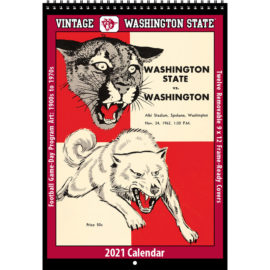 2021 Vintage Washington State Cougars Football Calendar