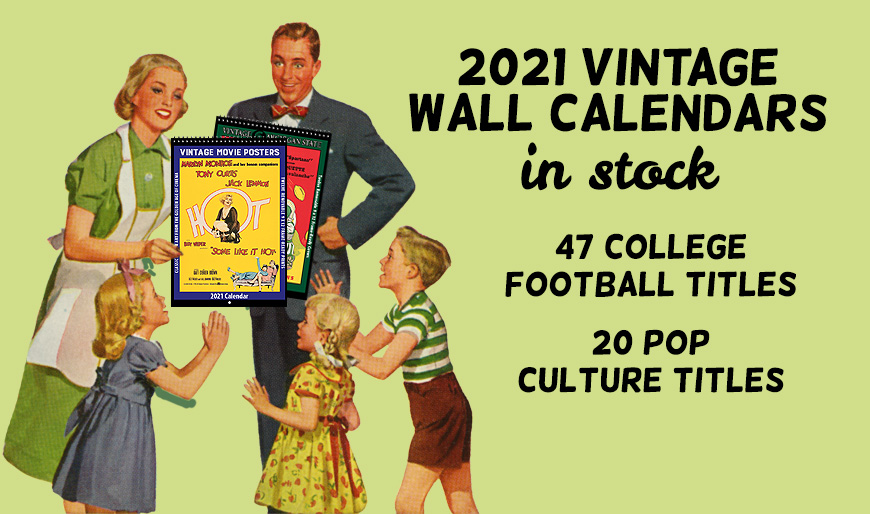 Vintage Wall Calendars Banner