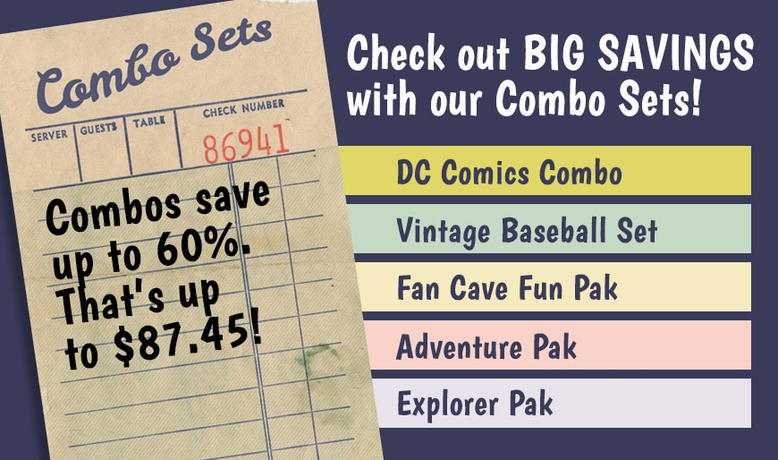 SAVE UP TO 60% WHEN YOU BUY A COMBO SET! PRE-BUILT SETS OF VINTAGE DC COMICS AND OTHER POP CULTURE TITLES!