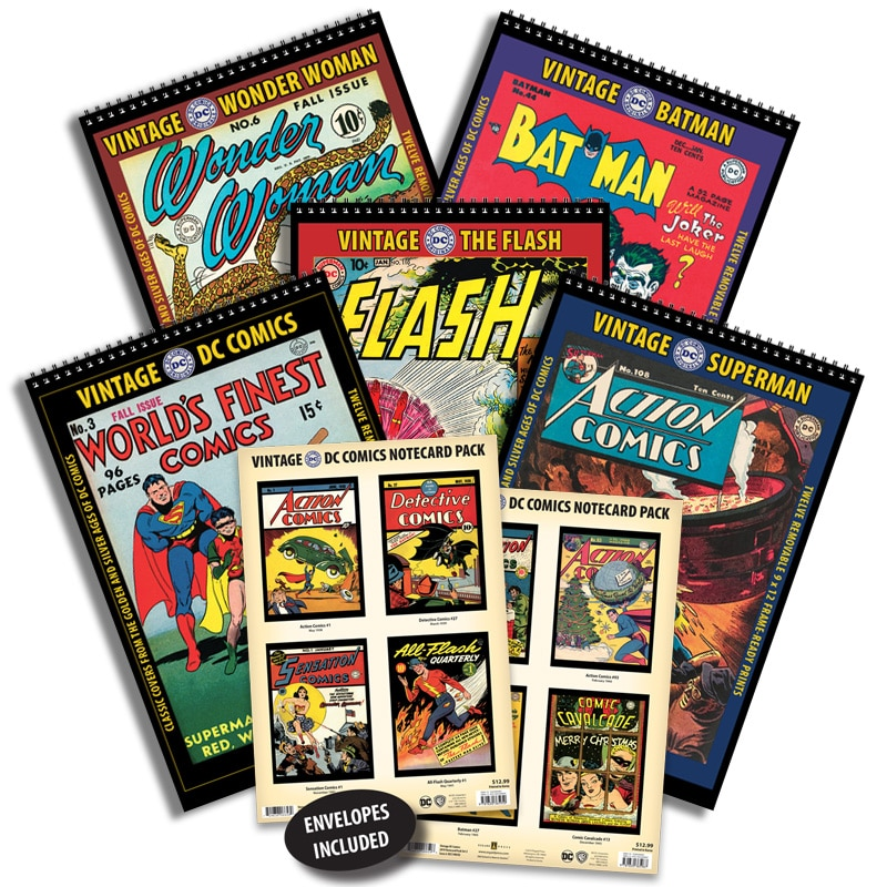 2021 Vintage DC Comics 5-Title/Notecard Pack Combo Set
