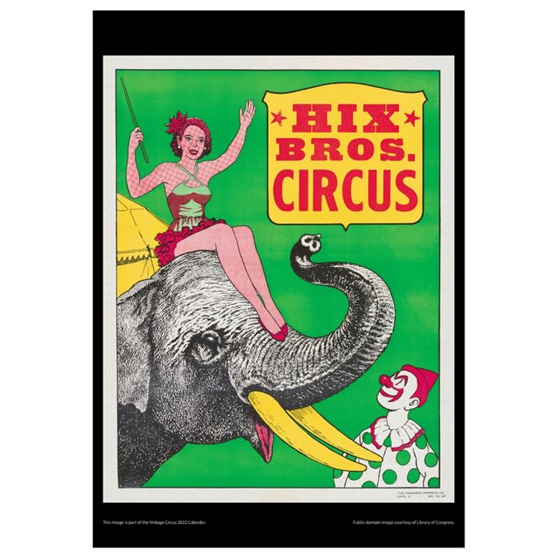 Asgard Press 2022 Vintage Circus Calendar