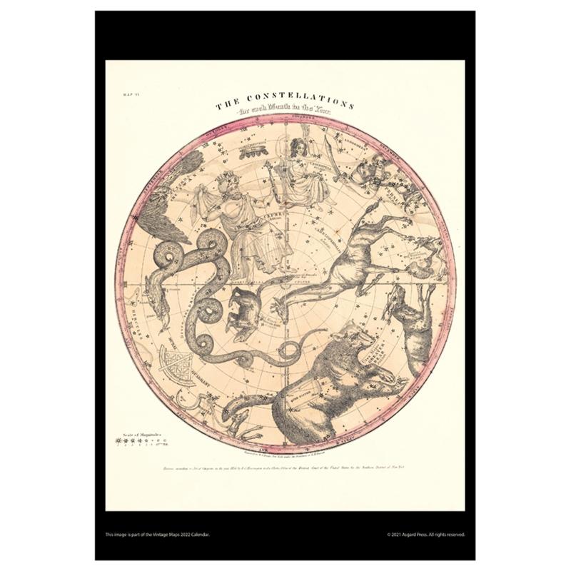 Asgard Press 2022 Vintage Maps Calendar