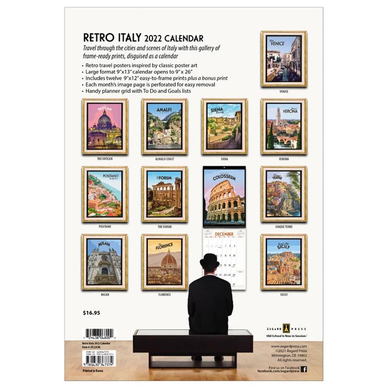 Asgard Press 2022 Retro Italy Calendar