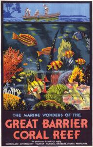 Great Barrier Reef Vintage Travel Poster