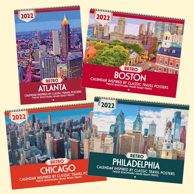 Sneak Peek: 2022 Retro Cities Calendars