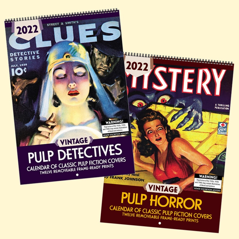 Sneak Peek: 2022 Vintage Pulp Detectives & Vintage Pulp Horror
