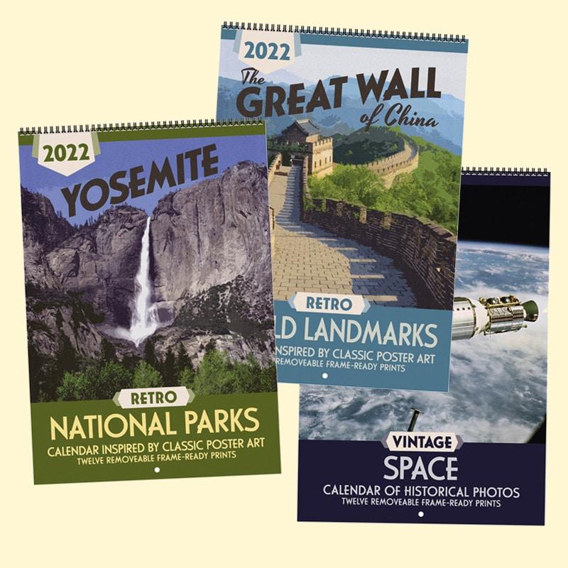 Sneak Peek: 2022 Retro National Parks, Retro World Landmarks & Vintage Space