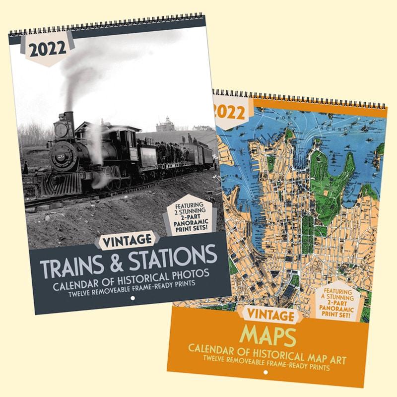 Sneak Peek: 2022 Vintage Trains & Stations & Vintage Maps