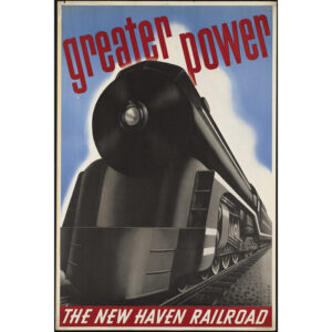 Greater Power train travel poster